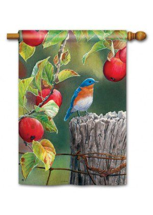 Orchard Bluebird House Flag | Fall Flag | Bird Flags | Yard Flag | Cool Flag