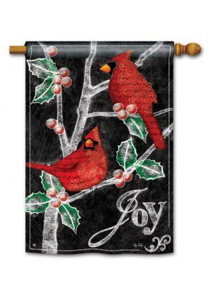 Christmas Cardinals House Flag | Christmas Flags | Yard Flags | Cool Flag
