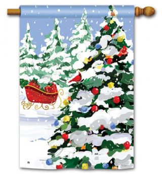 Sleigh Stop House Flag | Christmas Flags | Holiday Flags | Yard Flags