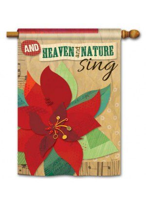 Heaven and Nature Sing House Flag | Christmas Flags | Holiday Flags