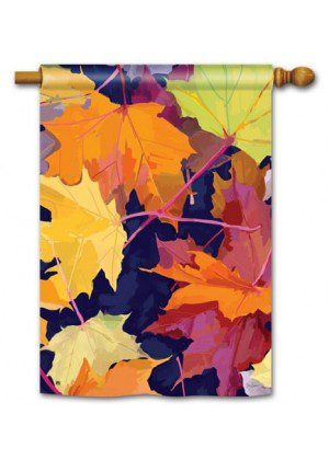 Maple Leaves House Flag | Fall Flags | Floral Flags | Yard Flag | Cool Flag