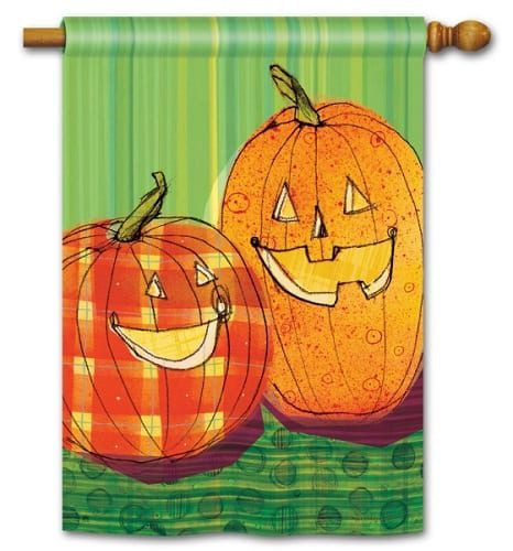 Punkin Time Flag | House Flags | Decorative Flags | Garden House Flags