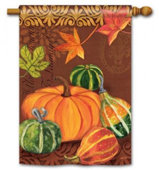 Vintage Harvest House Flag | Thanksgiving Flags | Fall Flags | Yard Flags