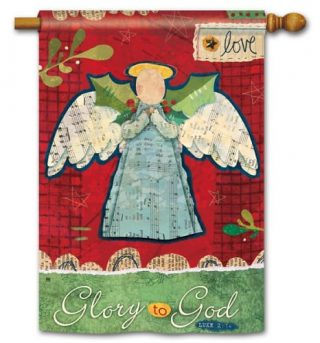 Glory to God House Flag | Christmas Flags | Holiday Flags | Yard Flags