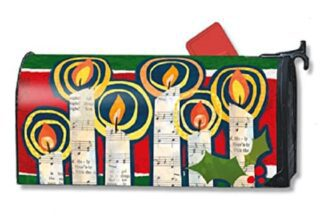 All is Bright Mailbox Cover | Mailwraps | Christmas Mailbox Covers
