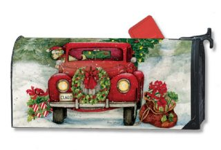 Bringing Home the Tree Mailbox Cover | Christmas Mailbox Covers