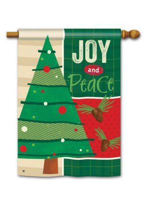 Joy and Peace House Flag | Christmas Flags | Holiday Flags | Yard Flags