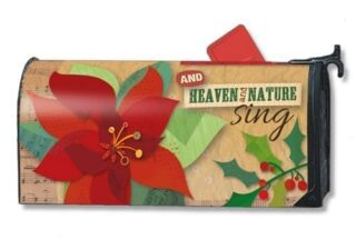 Heaven and Nature Sing Mailbox Cover | Christmas Mailbox Covers