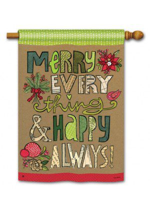 Merry Everything House Flag | Christmas Flags | Yard Flags | Cool Flags