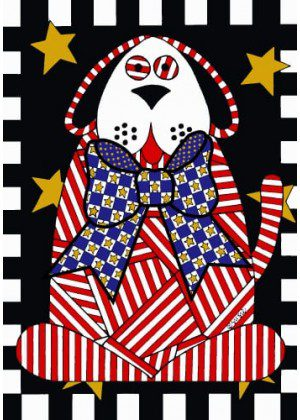 Patriotic Dog Flag | Patriotic Flags | 4th of July Flags | Yard Flag | Cool Flag