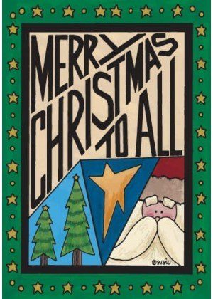 Merry Christmas To All Flag | Christmas Flags | Holiday Flags | Yard Flags