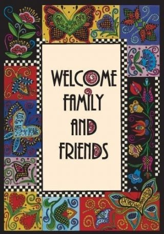 Welcome Family Flag | Yard Flags | Garden Flags | Welcome Flags | Flags