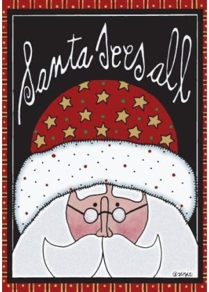 Santa Sees All Flag | Christmas Flags | Holiday Flags | Yard Flags | Flags