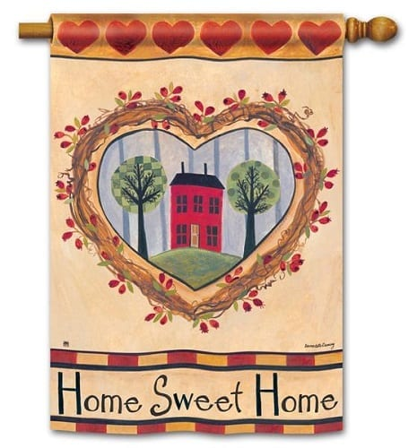 No Place Like Home Flag | Decorative House Flags | Garden House Flags
