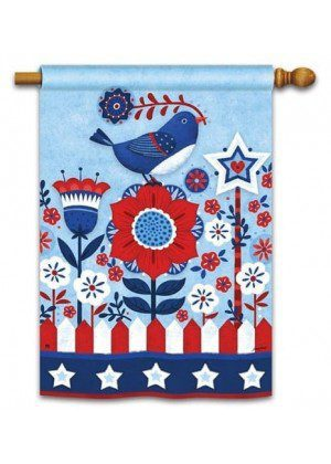 Freedom Fence House Flag | Patriotic Flags | 4th of July Flags | Yard Flags