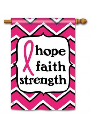 Pink Ribbon House Flag | Inspirational Flags | Charity Flags | Yard Flags