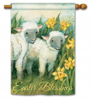 Easter Blessings House Flag | Easter Flags | Double Sided Flags