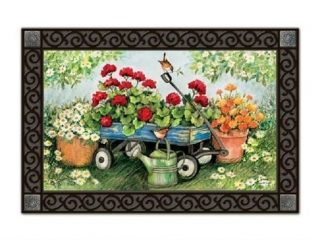Geraniums by the Dozen Doormat | Doormats | MatMates | Garden Decor