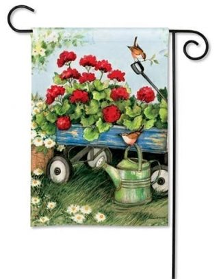 Geraniums by the Dozen Garden Flag | Floral Flags | Spring Flags | Flags