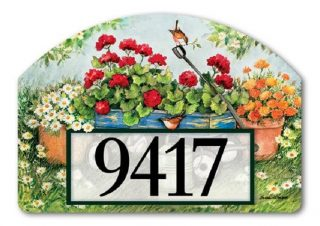 Geraniums by the Dozen Yard Sign | Address Plaques | Yard Signs