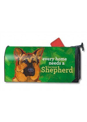 German Shepherd Mailbox Cover | Decoravite Mailwraps | Mailbox Covers