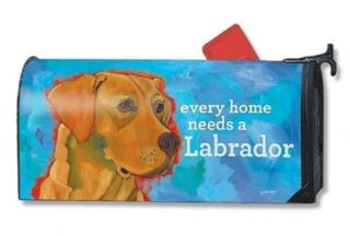 Yellow Lab Mailbox Cover | Decorative Mailwraps | Garden House Flags