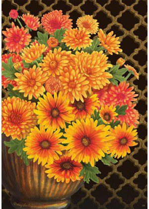 Fall Mums Flag | Fall Flags | Floral Flags | Yard Flags | Cool Flags