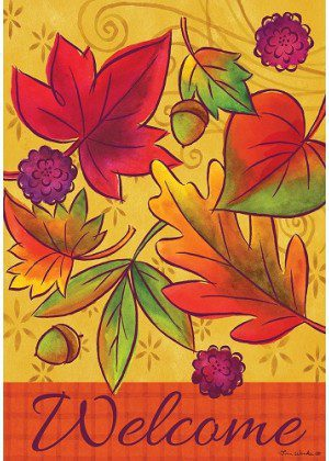 alling Leaves Flag | Fall Flags | Welcome Flags | Floral Flags | Cool Flags