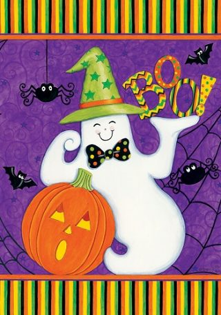 Friendly Ghost Flag | Fall Flags | Halloween Flags | Double Sided Flags