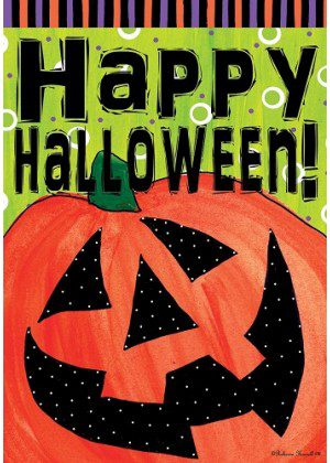 Halloween Happy Jack Flag | Halloween Flags | Double Sided Flags