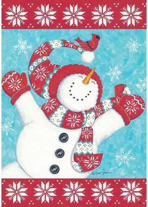 Joyful Snowman Flag | Christmas Flags | Winter Flags | Snowman Flags