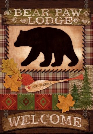 Welcome Bear Flag | Fall Flags | Welcome Flags | Double Sided Flags