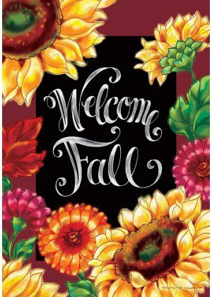 Welcome Sunflowers Flag | Double Sided Flags | Fall Flag | Welcome Flag