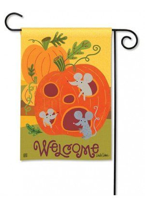 Pumpkin Critters Garden Flag | Halloween Flags | Welcome Flag | Fall Flag