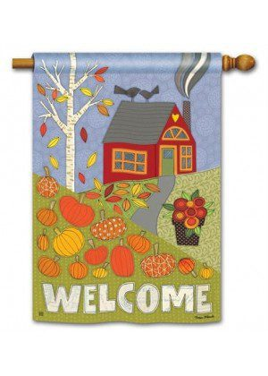 Pumpkin Patch House Flag | Thanksgiving Flag | Welcome Flag | Fall Flag