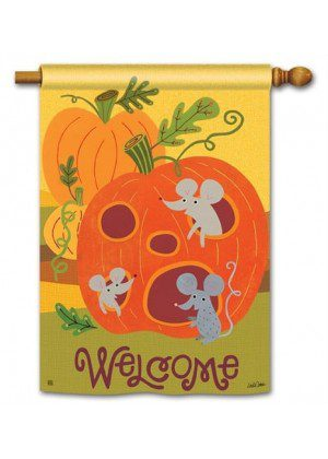 Pumpkin Critters House Flag | Halloween Flags | Welcome Flags | Fall Flag