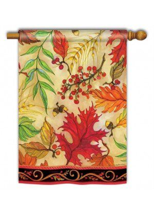 Blaze of Glory House Flag | Fall Flags | Floral Flags | Yard Flag | Cool Flag