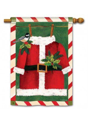 Santa Suit House Flag | Christmas Flags | Holiday Flags | Yard Flags