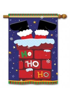 Santa Stop Here House Flag | Christmas Flags | Holiday Flags | Yard Flags
