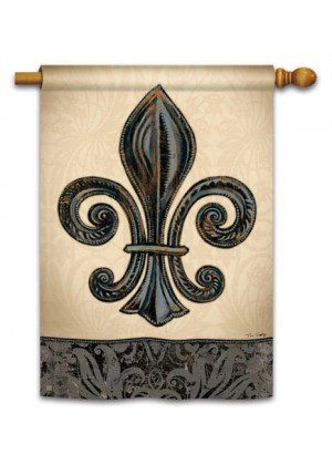 Fleur de Lis House Flag | Spring Flags | Summer Flags | Yard Flags