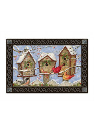 Christmas Birdhouse Doormat | Doormats | MatMate | Decorative Doormat