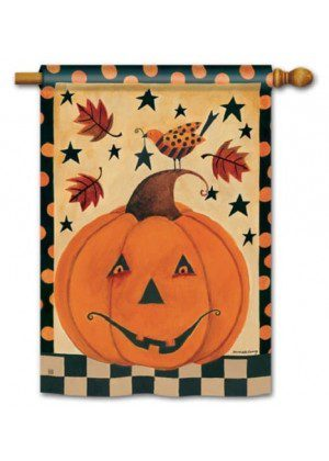 Country Pumpkin House Flag | Halloween Flags | Yard Flags | Fall Flags