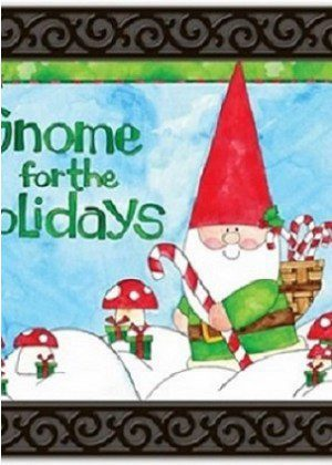 Gnome for the Holidays Doormat | Doormats | MatMates | Garden Decor