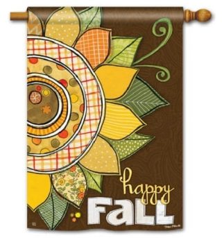 Happy Fall House Flag | Fall Flags | Floral Flags | Yard Flags | Cool Flags