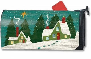 Home for Christmas Mailbox Cover | Mailwraps | Christmas Mailbox Cover