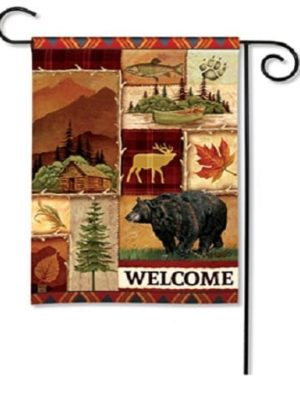 Cabin Fever Garden Flag | Fall Flags | Welcome Flags | Wildlife Flags