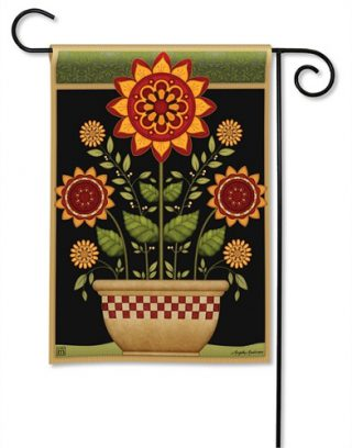 Primitive Sunflowers Garden Flag | Fall Flags | Floral Flags | Yard Flags