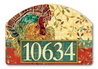 Thanksgiving Turkey Yard Sign | Address Plaques | Yard Decor | Yard Sign