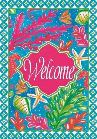 Tropical Welcome Flag | Two Sided Flags | Welcome Flags | Beach Flags