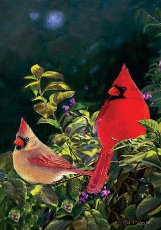 Cardinal Pair Flag | Spring Flags | Bird Flags | Summer Flags | Cool Flags